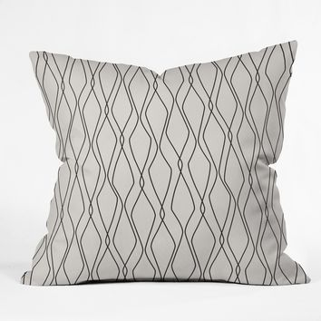 Heather Dutton Fuge Stone Throw Pillow