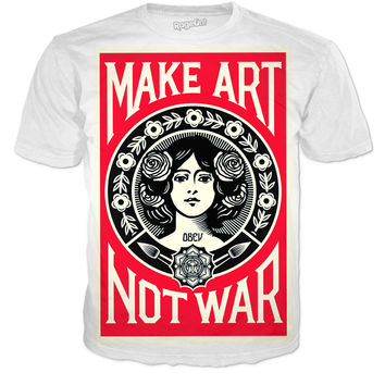 """make Art Not War"" Tshirt"