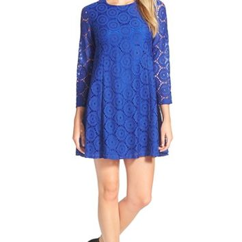 Women's CeCe by Cynthia Steffe Circle Lace Trapeze Dress,