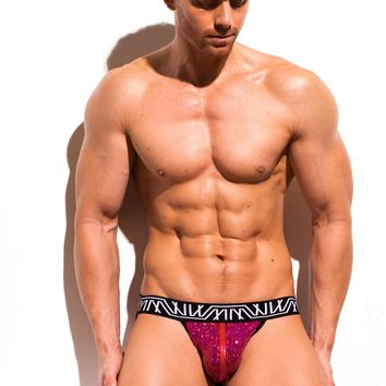Pink Sequin Jock-Thong