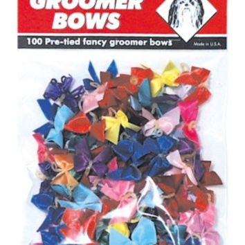 Pet Supply Imports Dog Grooming Hand Tied Bow Assortment 100 Pk