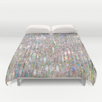 To Love Beauty Is To See Light (Crystal Prism Abstract) Duvet Cover by Soaring Anchor Designs