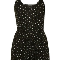 Plisse Polkadot Playsuit - Vacation Shop - Clothing