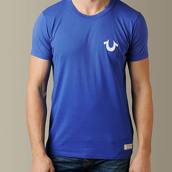 True Religion Brand Jeans Mobile - ;MENS LOGO SINGLE PUFF PRINT TEE - (ROYAL BLUE)
