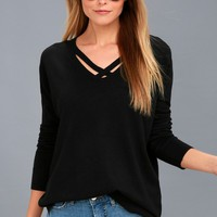 Simply Amazing Black Sweater Top