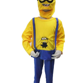 Boys Minions Halloween Costume for Kids, 3-7 Years  Party Cosplay, Child Clothing Set