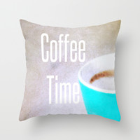 Coffee Time - JUSTART © Throw Pillow by JUSTART * Syl *