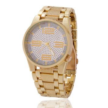 The 14K Gold CZ Dust Watch