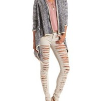 Geo-Tribal Cascade Cardigan Sweater by Charlotte Russe