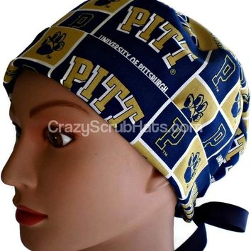 Women's Pixie Surgical Scrub Hat Cap in Pittsburgh PITT Panthers