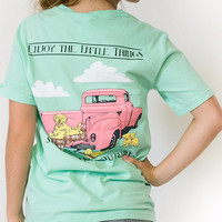 Southern Couture Enjoy The Little Things Dogs Truck Comfort Colors T-Shirt
