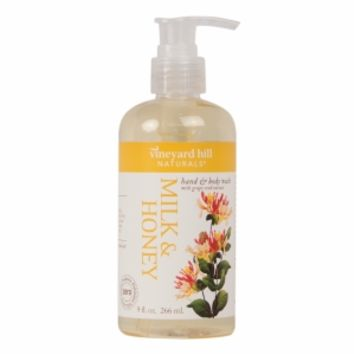 Vineyard Hill Naturals Natural Body Wash, Milk & Honey