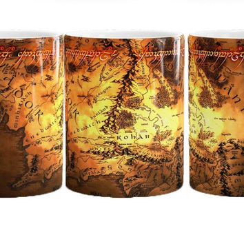 The Lord of The Rings mugs coffee mug travel mugs ceramic white lotr mug home decal porcelain tea cups drink water milk beer