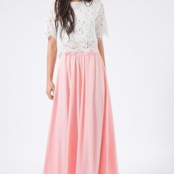 Lexie Blush Full Maxi Skirt