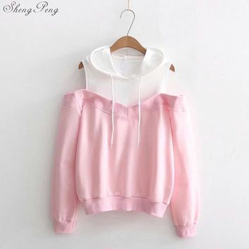 Harajuku kawaii sweatshirt women kawaii clothes crop top hoodie sweatshirt for women Japanese sweatshirt women 2018 CC590