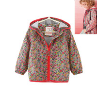 Floral Girls Jackets Thick Warm Spring Autumn Kids Jackets Hooded Baby Girls High Quality Girls Outerwear For Children Jackets