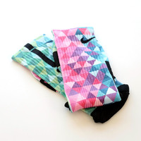 The Rainbow Collection Custom Nike Elite Printed Socks