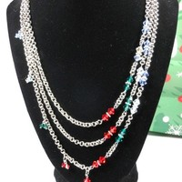 Swarovski Bicones and Chainmaille Necklace