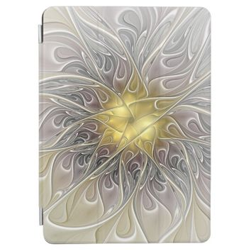 Flourish With Gold Modern Abstract Fractal Flower iPad Pro Cover
