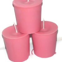 Strawberry scented votive candles, premium strawberry soy candles
