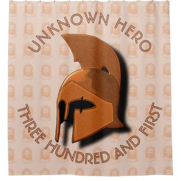 Unknown Spartan 301th Hero Greek Helmet Shower Curtain