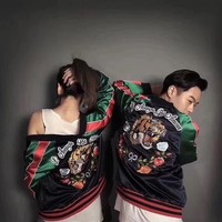 '' GUCCI '' Women Men Fashion The tiger Embroidery Jacket Windbreaker