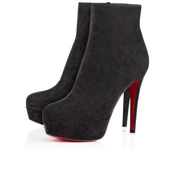 Christian Louboutin Cl Bianca Booty Charbon Suede 16w Ankle Boots 3160752i132