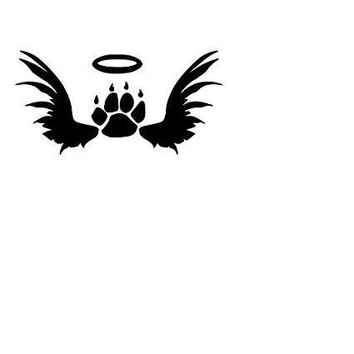 In Memory Of Cat Paw Print  Vinyl Car/Laptop/Window/Wall Decal