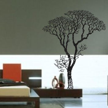 Big Bare Tree Vinyl Decal Sticker Forest Trees Nature Living Room Modern Nursery