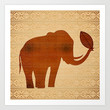 Elephant Tribal Art Design Art Print by Bluedarkat Lem