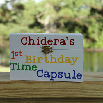 1st Birthday Time Capsule - Rainbow Themed