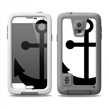 The Solid Black Anchor Silhouette Samsung Galaxy S5 LifeProof Fre Case Skin Set