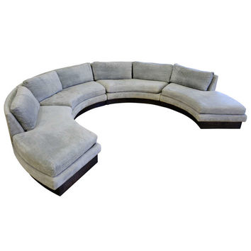 Circular Curved Sectional Sofa by Erwin-Lambeth for John Stuart