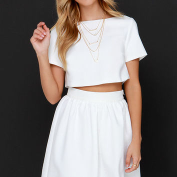 You and Me Ivory Two-Piece Dress