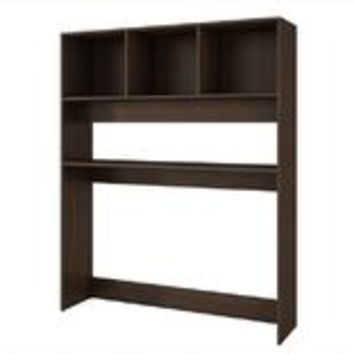 Accentuations by Manhattan Comfort Display Desk  with 4 Shelves in Tobacco