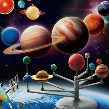 Solar System Planetarium Model Kit Astronomy Science Project DIY Kids Gift Hot Selling