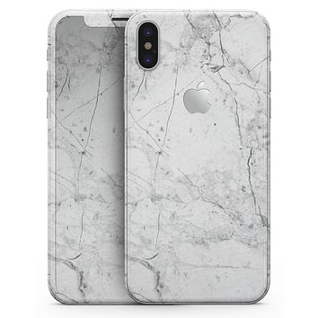 Cracked Marble Surface - iPhone X Skin-Kit