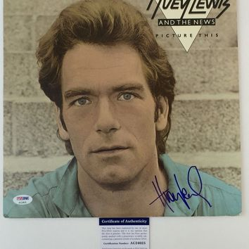 "Huey Lewis Signed Autographed ""Picture This"" Record Album (PSA/DNA COA)"