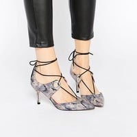 ASOS SILHOUETTE Lace Up Pointed Heels at asos.com
