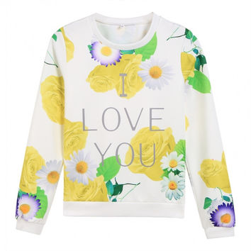 Floral I Love You Sweatshirt