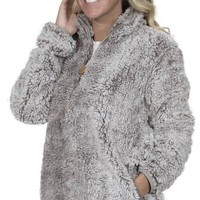 Simply Southern Sherpa Pull Over - Light Grey