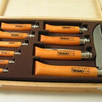 OPINEL 10 Piece Collectors Knife Set . Made In France