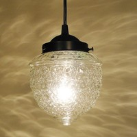 Island Falls II Clear PORCH Globe Made PENDANT Light by LampGoods