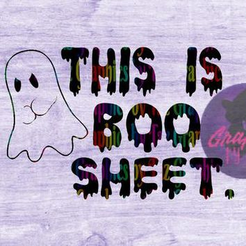 This is Boo Sheet Angry Ghost SVG cut file for Cricut and Silhouette Cutting machines