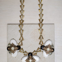 Flower Blend Statement Necklace