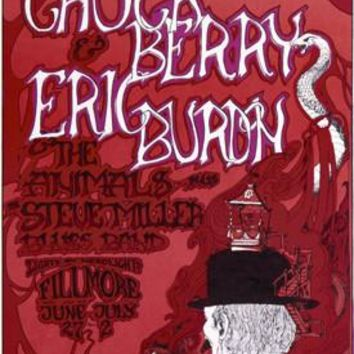 Chuck Berry Eric Burdon Fine Art Print