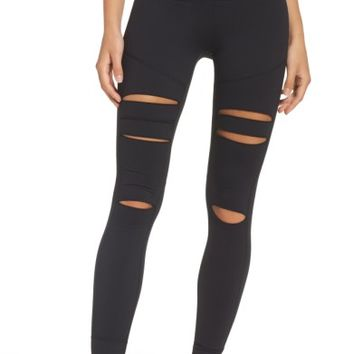 Zella Cece High Waist Open Knee Leggings | Nordstrom