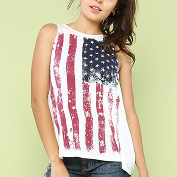 Flag Graphic Top