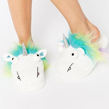 ASOS NUTTY Unicorn Slippers