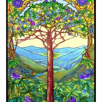 The Tree of Life inspired by Louis Comfort Tiffany  Counted Cross Stitch Pattern
